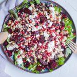 Salată cu sfeclă roșie & telemea