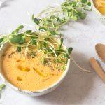 #VeganMonday cu resturi din frigider // Supă cremă de morcovi și conopidă